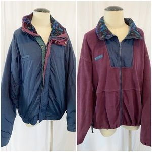 Vintage Columbia Bugaboo 3 in 1 Coat Fleece Blue